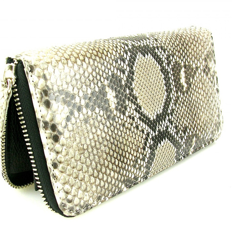 Natural Python large zippered wallet  15105.1409508706.1280.1280