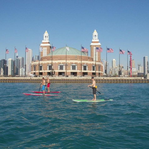 Chicago PaddleBoardLessonsFitness ChicagoSUP03